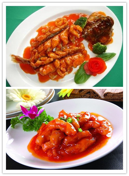 sweet and sour fish and pork